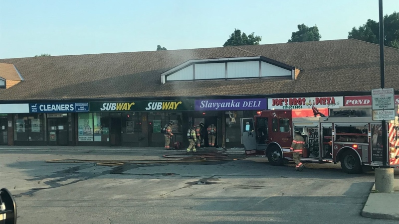 Fire crews quickly controlled a fire at 1086 Commissioners Rd. East on Thursday, July 9, 2020. (Source: London Fire Department Twitter)