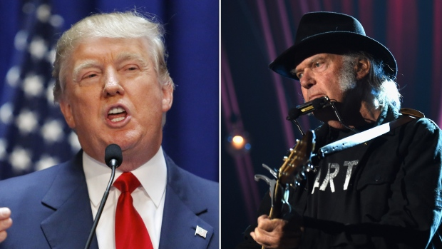 Musician Neil Young is upset again with U.S. President Donald Trump for playing his music on Friday during the White House's Mount Rushmore event celebrating Independence Day. (KENA BETANCUR/ Larry Busacca/Getty Images)