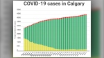 COVID-19 cases (active, recovered and fatal) in Calgary as of July 7, 2020
