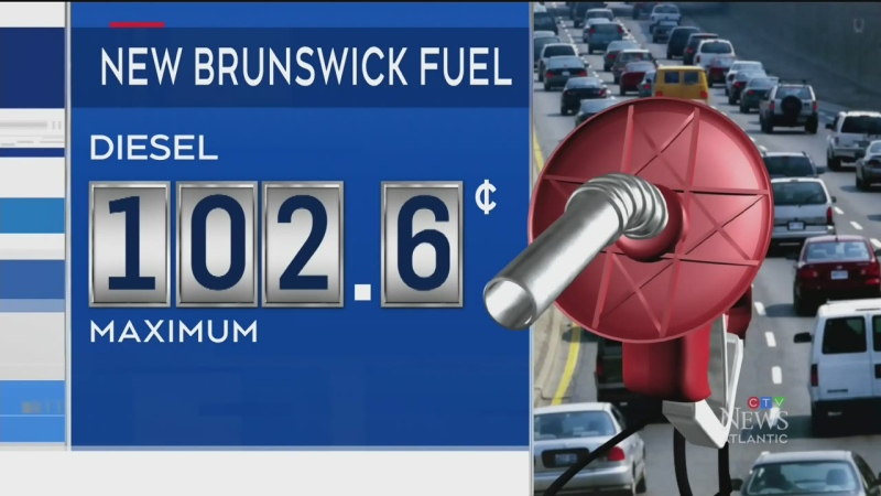 Gas prices rise in New Brunswick
