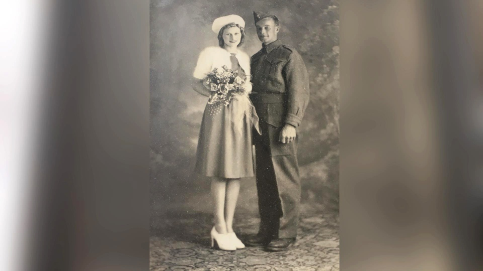 Muriel and Jack McInnes were married on June 30, 1940.