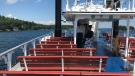 A family enjoys a pod cruise on Kingston's Island Queen. (Kimberley Johnson/CTV News Ottawa)