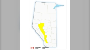 Parts of central and southern Alberta are under a severe thunderstorm watch on Thursday.