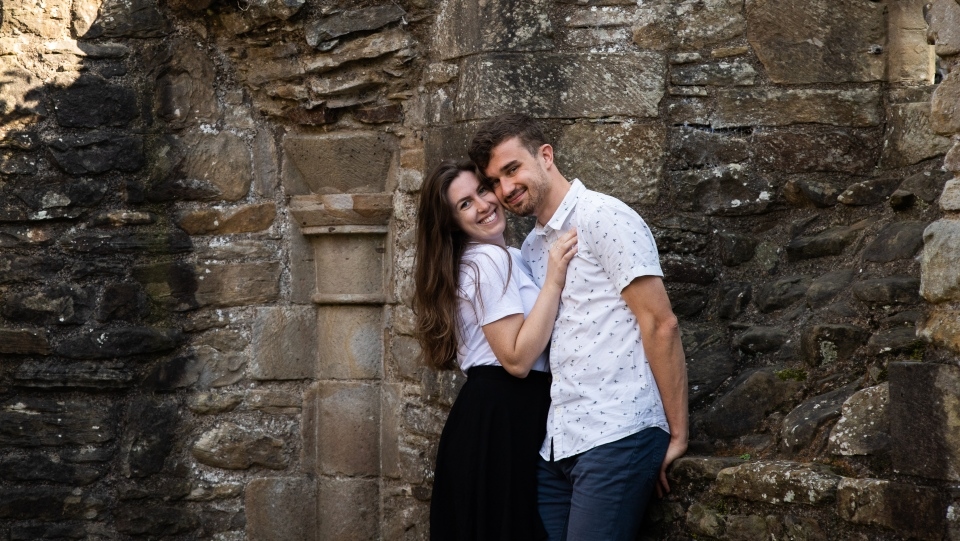Sarah Campbell and Jacob Taylor were planning to get married in June but had to postpone their wedding after COVID-19 hit and travel restrictions forced him to remain in the U.K. (Photo courtesy Sarah Campbell)