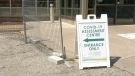 Windsor Regional Hospital COVID-19 Assessment Centre in Windsor Ont., on Thursday, July 9, 2020. (Sijia Liu / CTV Windsor)
