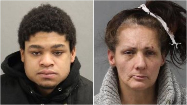 Toronto police are searching for Michael Lauder (left) and Karen Constantin (right) in connection with a shooting last week that left a man with life-threatening injuries. (Toronto Police Service)