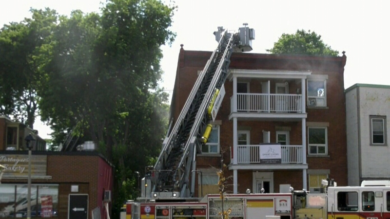 Firefighters battle blaze, and intense heat