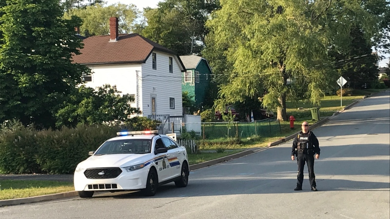Police say then they arrived at a home on Howard Avenue, they found the man armed with a handgun outside a home. (CTV ATLANTIC / JIM KVAMMEN)