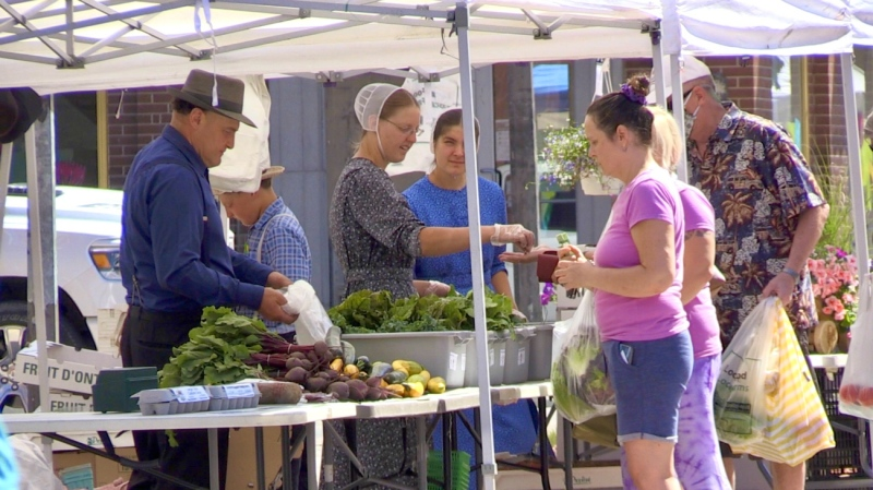 As the Downtown Timmins BIA kicked off this year's 'Urban Park' market with the ring of a bell, northern farmers took it as a sign of resilience in the face of the COVID-19 pandemic. (Sergio Arangio/CTV News)