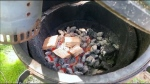 It's easy to turn a barbecue into a smoker.