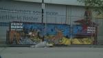Dumpster mural raising money