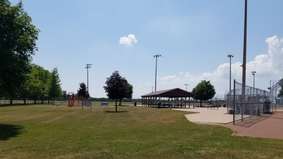 Baseball diamonds at St. Clair College Thames Campus in Chatham-Kent, Ont. (courtesy municipality of Chatham-Kent)