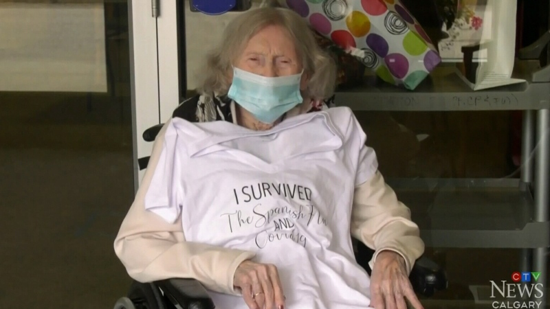 102-year-old woman overcomes COVID