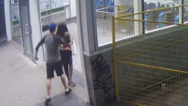 Video shows woman being attacked by stranger at SkyTrain station