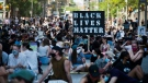 Thousands of people protest to defund the police in support of Black Lives Matter and all social injustice against racism in Toronto on Friday, June 19, 2020. THE CANADIAN PRESS/Nathan Denette