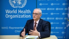 In this Jan. 23, 2020, file photo, Dr. Gauden Galea, the World Health Organization (WHO) representative in China, speaks during an interview with The Associated Press at the WHO's offices in Beijing. (AP Photo/Mark Schiefelbein, File)