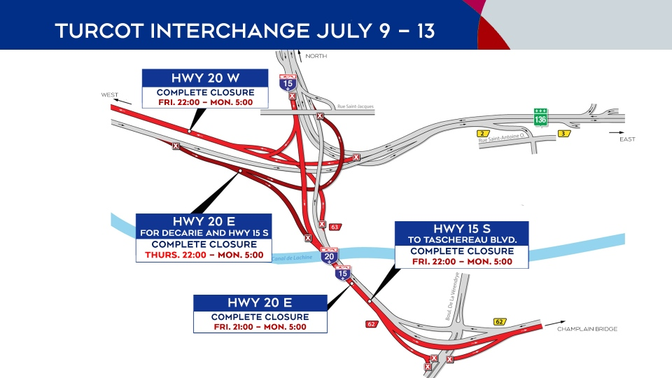 Highway 20 closings July 9-13, 2020