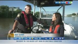Winnipeg Police River Patrol warns of water levels