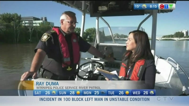 Winnipeg Police River Patrol warns of water levels