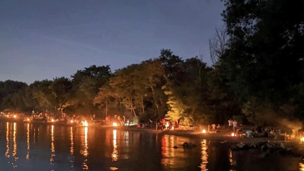 Late-night beach parties are held at Marie Curtis Park. (Toronto Police 22 Division)
