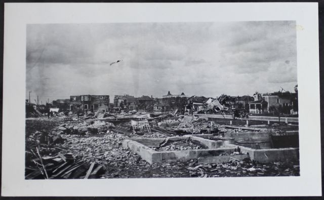 Photo sourced from the Provincial Archives of Saskatchewan, shows the Regina Cyclone of 1912.