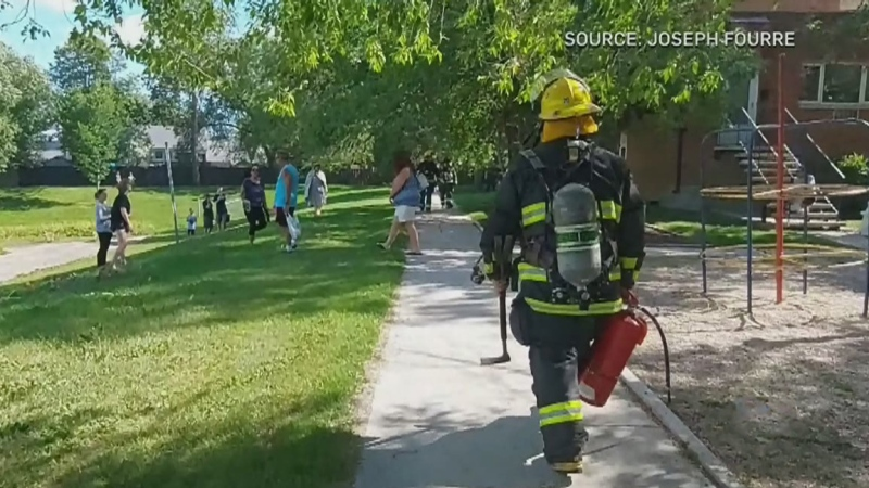 Suspected dryer fire forces evacuations