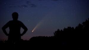 Comet Neowise taken at Plumas Manitoba. Photo by Donna Lach.