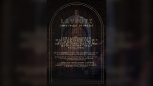 A message on La Voute's Facebook page said the bar is closed until further notice. (Facebook)
