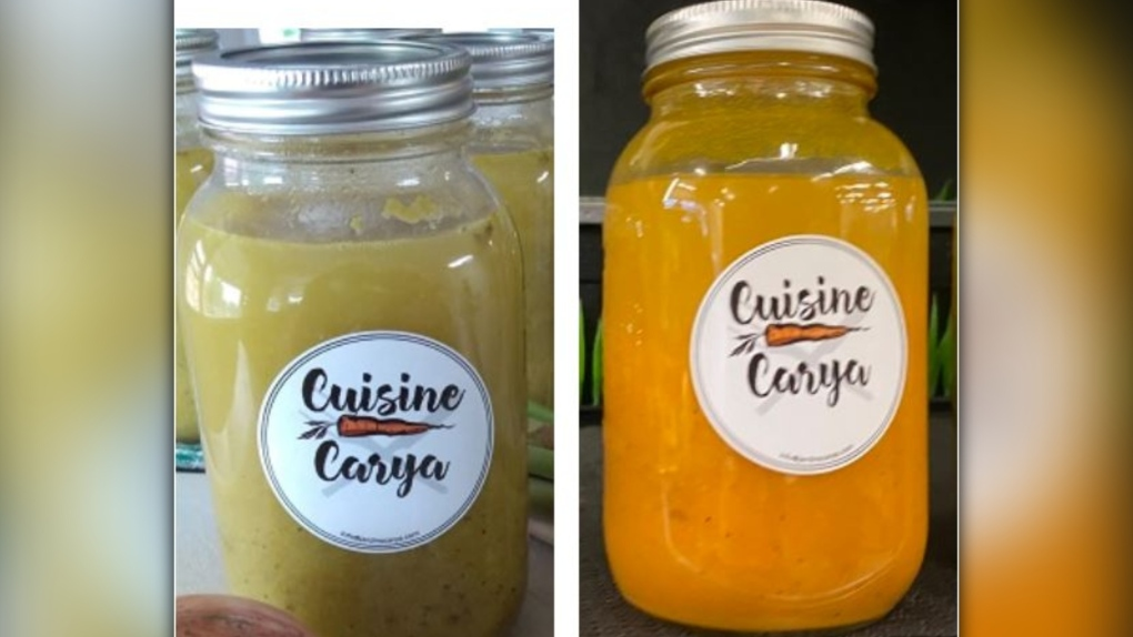 Soups packaged by Les Jardins Carya