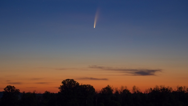 I have attached a photo of the brightest comet in nearly 2 decades, Comet Neowise, during sunrise in Kinburn. This was taken in the morning of July 9th. (Chris Illidge/CTV Viewer)