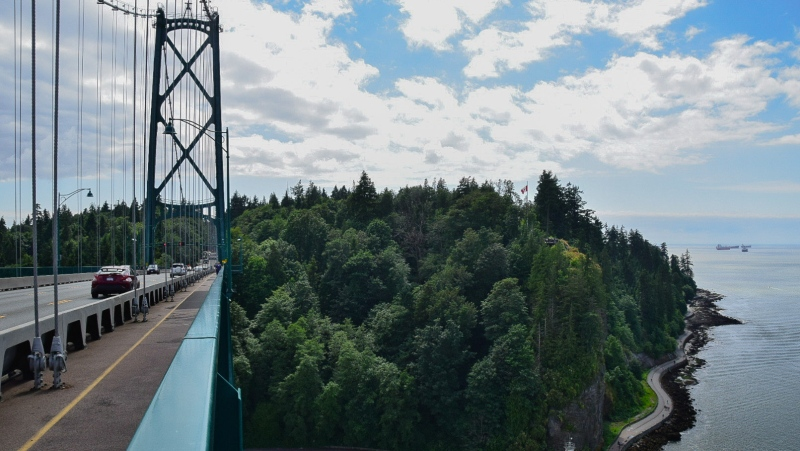The Lions Gate Bridge, captured by Brianna Turner, is seen in July 2020.