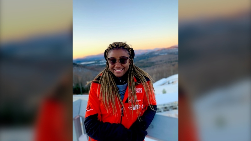 Dawn Richardson Wilson may be following in the footsteps of Canada's most decorated bobsledders, Pierre Lueders, who was born in Edmonton. (Submitted)