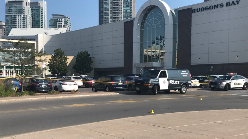 Police are investigating after a man was shot outside Scarborough Town Centre. (CP24/Beatrice Vaisman)