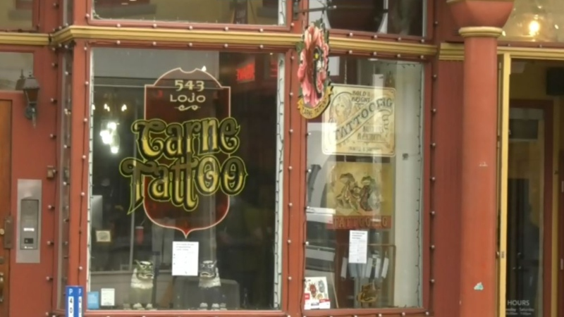 The Carne Tattoo shop on Victoria's Johnson Street. (CTV News)