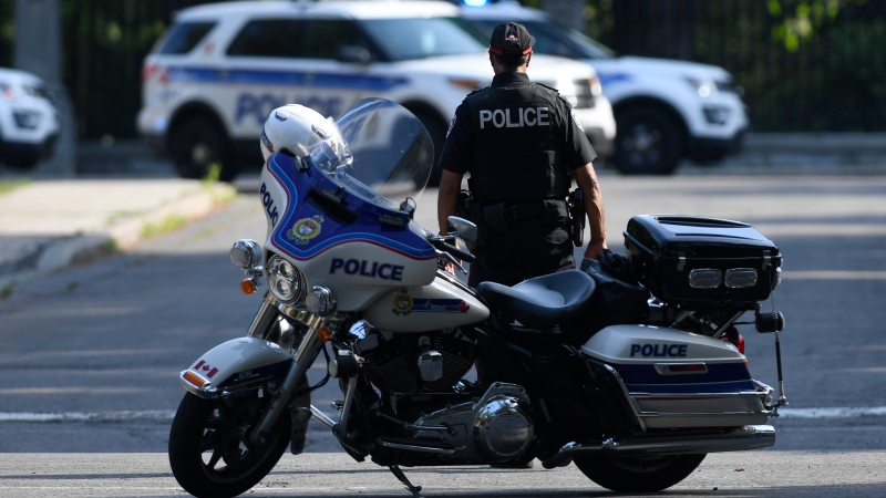 "A police barricade is set up outside Rideau Hall in Ottawa on Thursday, July 2, 2020. The RCMP say they have safely resolved an ""incident"" at Rideau Hall, where Gov. Gen. Julie Payette and Prime Minister Justin Trudeau live.THE CANADIAN PRESS/Adrian Wyld"