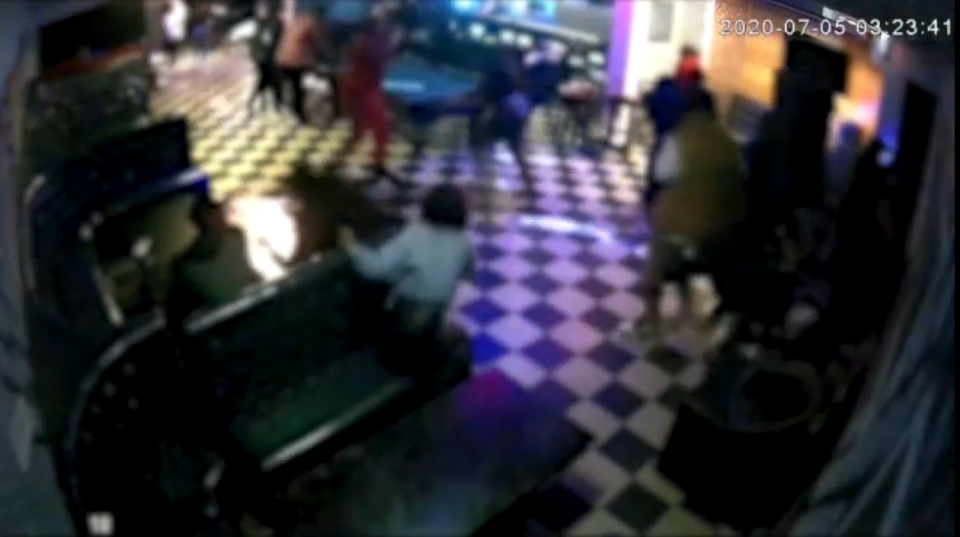 Surveillance video of shooting at the Star Club