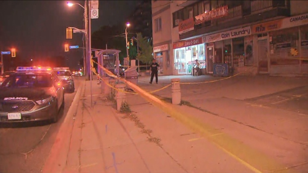 Toronto police are investigating a shooting near Jane and St. Clair.