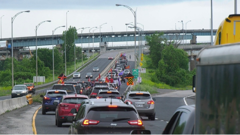 Rolling convoys in Kahanwake and Kanesatake commemorated the 30th anniversary of the Oka Crisis.