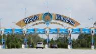 Park guests enter the Magic Kingdom during the reopening of Walt Disney World, Saturday, July 11, 2020, in Lake Buena Vista, Fla. (AP Photo/John Raoux)