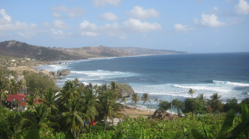 The fishing village of Bathsheba faces the Atlantic Ocean on the east coast of Barbados. (THE CANADIAN PRESS/Mike Fuhrmann)