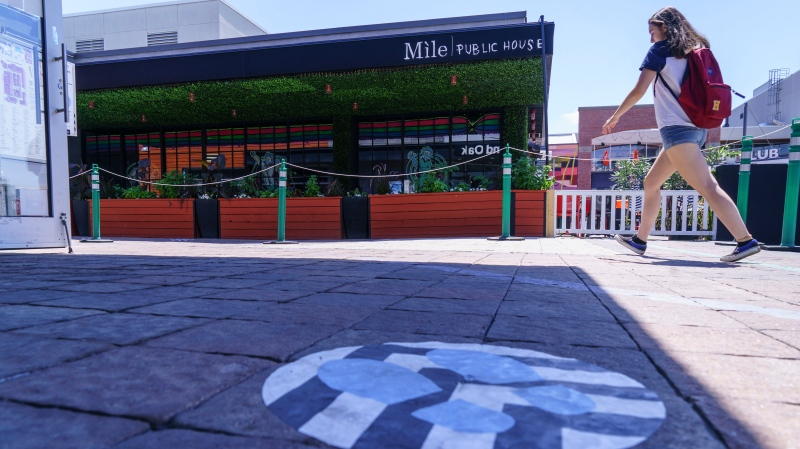 The Mile Public House bar is seen in Brossard, Que. on Monday, July 6, 2020. Health officials are urging patrons who went to the bar on the South Shore of Montreal on the evening of June 30 between 8pm and closing to get tested. THE CANADIAN PRESS/Paul Chiasson