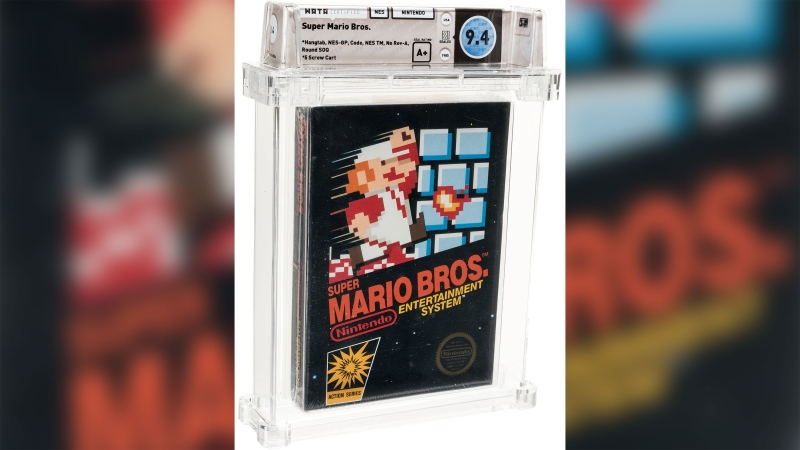 An unopened copy of the Super Mario Bros. video game sold for a record $114,000. (Heritage Auctions/HA.co)
