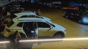 New surveillance video obtained by CTV News Toronto shows the moments leading up to a 'brazen' shooting at a parking lot near Jane and St. Clair on July 10.