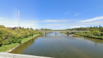 The Gaetz Avenue Bridge looking over the Red Deer River. (Google Street View)