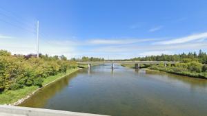 The Gaetz Avenue Bridge looking over the Red Deer River. (Google Street View)