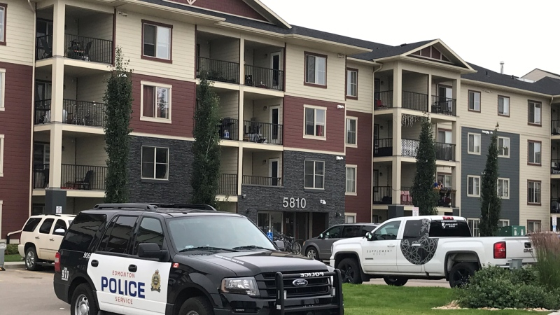 Police were called to a home in SW Edmonton after a body was found in the residence. (Sean McClune/CTV News Edmonton)