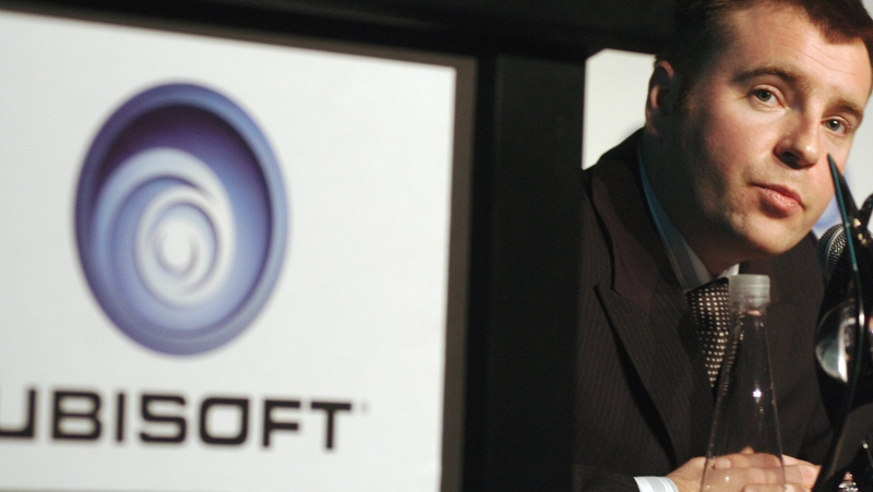 In this 2006 file photo, Yannis Mallat listens to questions during press conference with video game producer Ubisoft in Montreal on Friday Feb. 9. (CP PHOTO/Peter McCabe)