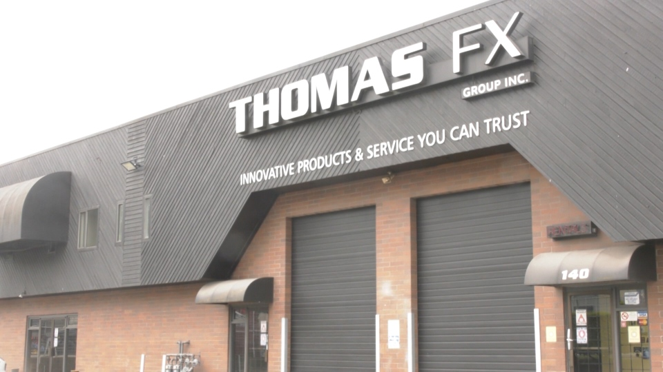 John and Betty Quee own special effects company Thomas FX Group Inc., but they've changed their business to distribute ultraviolet light equipment that can disinfect surfaces. (CTV)