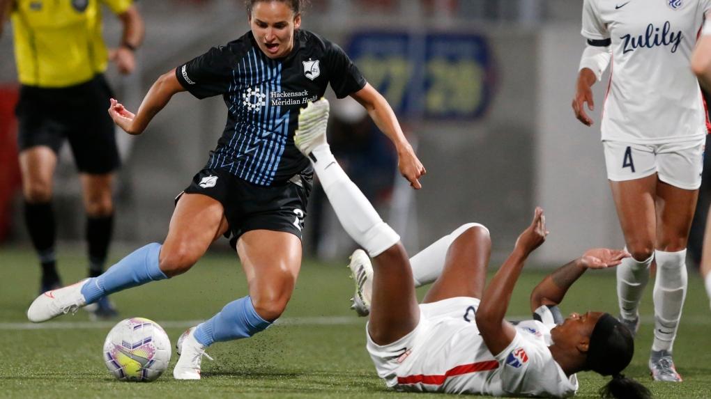 Sky Blue FC forward Evelyne Viens