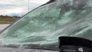 Environment Canada says storm activity developing Sunday could result in severe thunderstorms that could produce high winds, heavy rain and large hail that has the potential to cause widespread damage. (File)